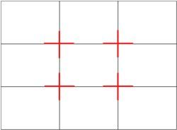 В кадре присутствую четыре пересечения основных линий.