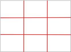 Разбивка кадра на 9 квадратов