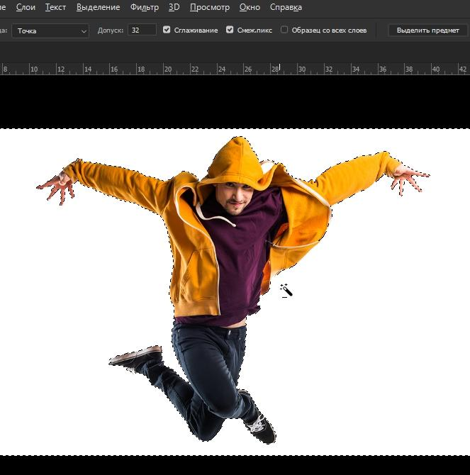 Выделение слоя в фотошопе