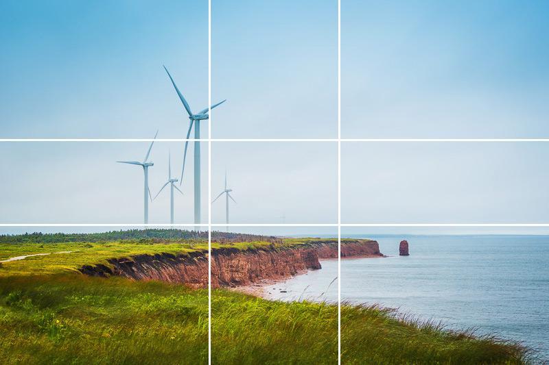 Фото ветряков сделанное согласно правила золотого соотношения