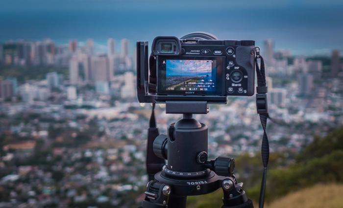 Сетка для правила третей на ЖК экране фотоаппарата