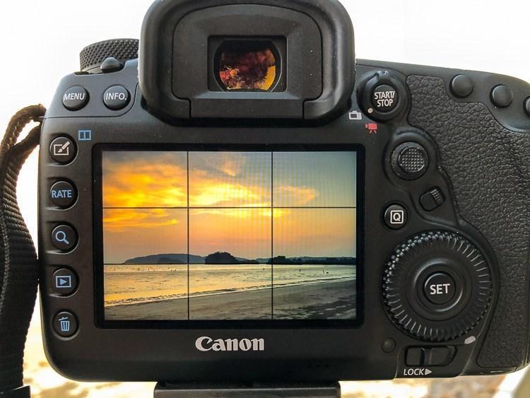 Большинство камер имеют возможность отображать сетку по Правилу третей на экране.