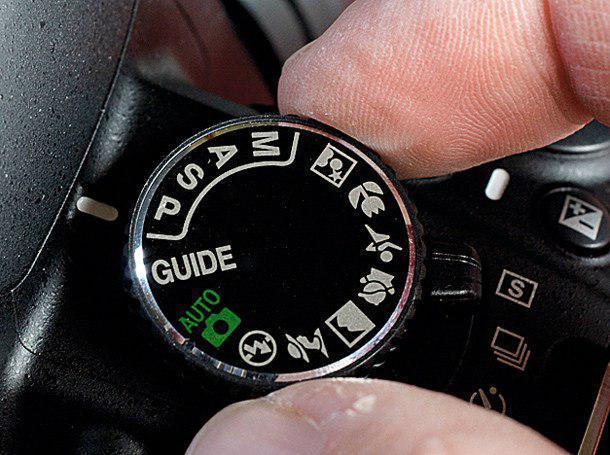 Режим программы (program) на фотокамере.