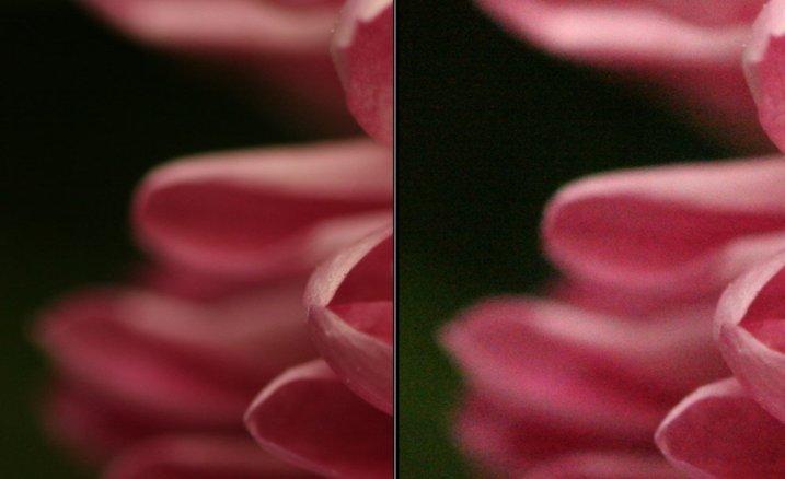 Сравнение снимков с разным ISO