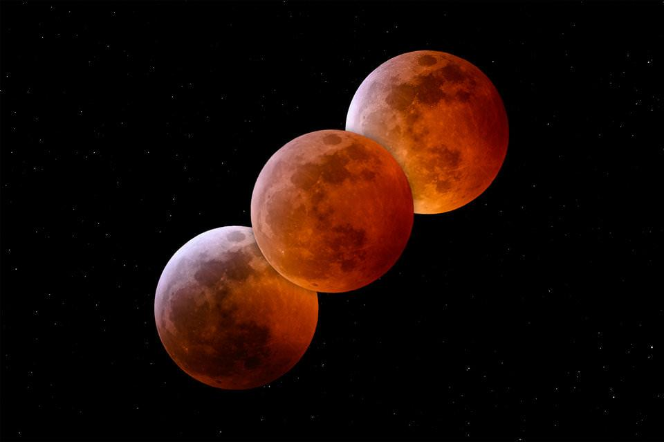 Phases of Total Lunar Eclipse NIKON Z 7 + 300mm f/4 @ 420mm, ISO 200, 10 sec, f/8.0