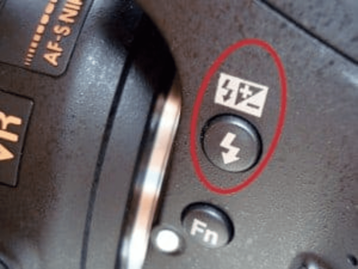 Включение вспышки на камере