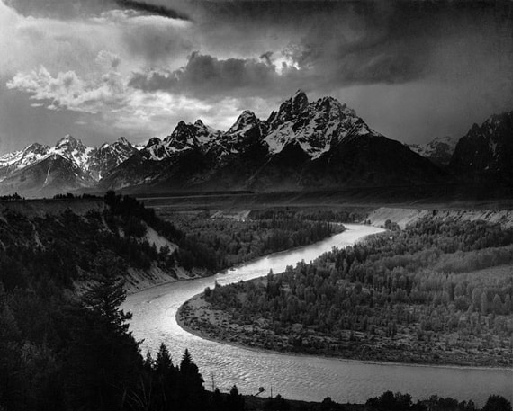 "The Tetons and the Snake"" by Ansel Adams, 1942 (Flickr / Pearlmatic)"