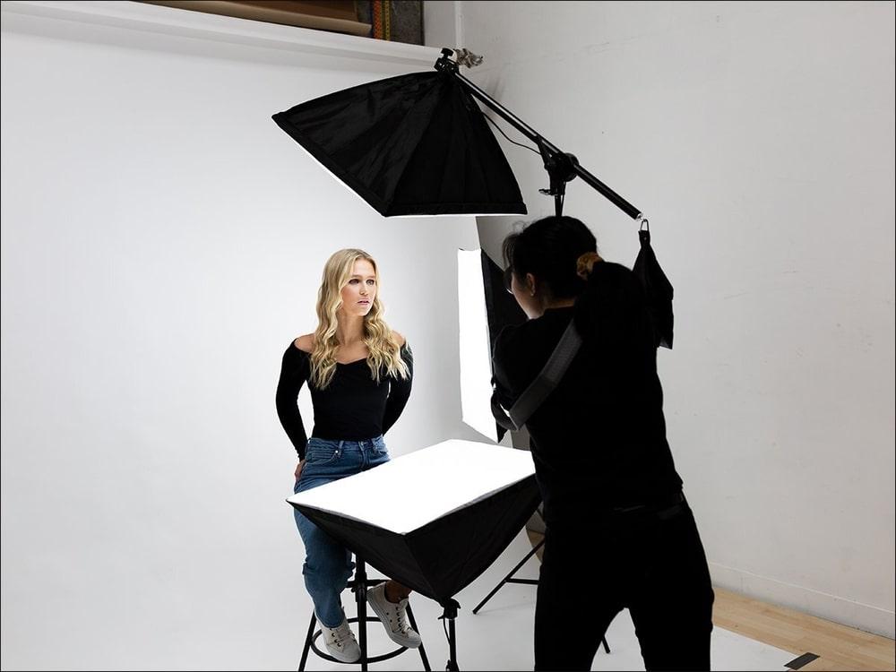 Съемка портрета с помощью софтбоксов
