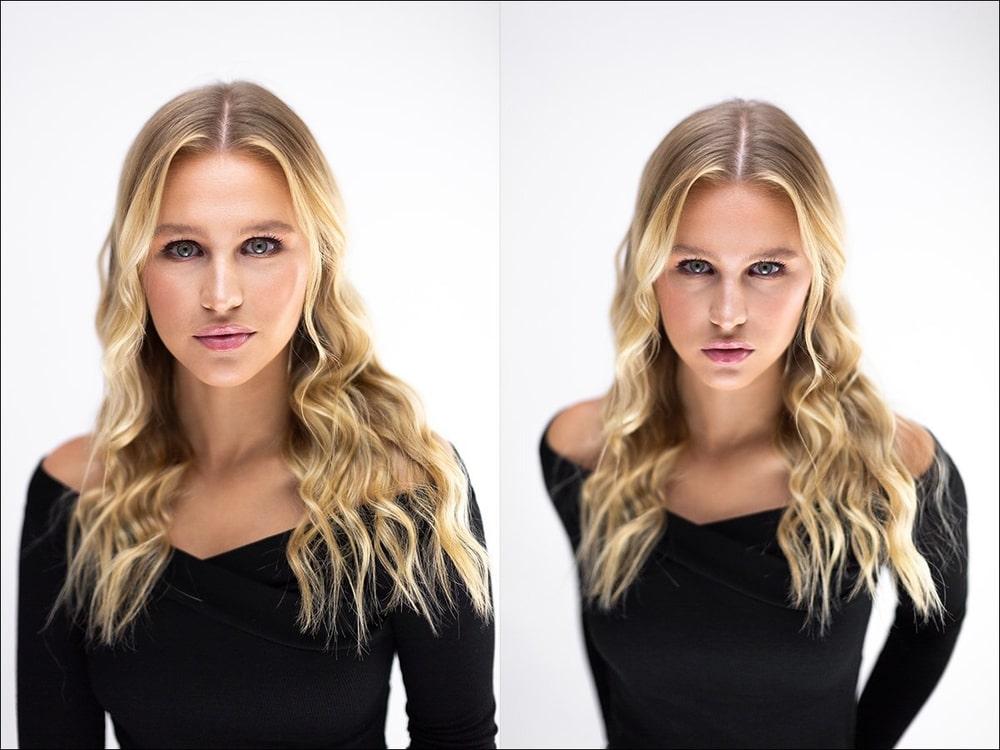 Снимки портретов, снятых с помощью софтбоксов
